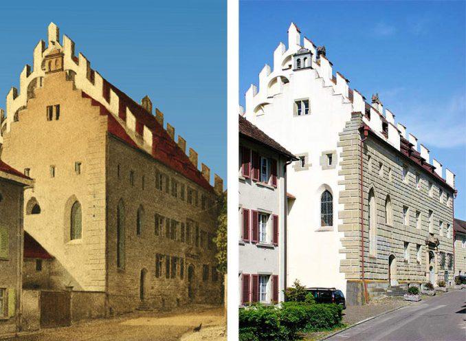 Reichlin-von-Meldegg Haus damals und heute
