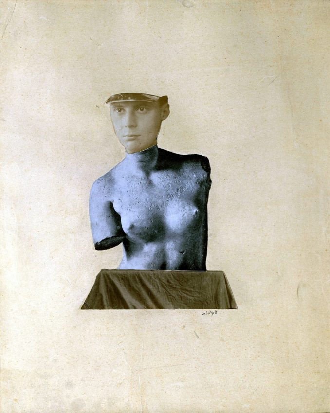 Johannes Theodor Baargeld: Typische Vertikalklitterung als Darstellung des Dada Baargeld (1920. Kunsthaus Zürich) Foto © Kunsthaus Zürich